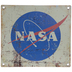 Distressed NASA Logo Metal Sign