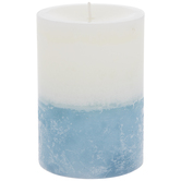 Hydrangea & Cotton Layered Pillar Candle