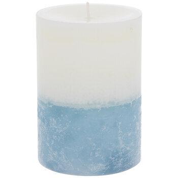 Hydrangea & Cotton Layered Pillar Candle