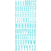 Turquoise Uppercase Alphabet Stickers