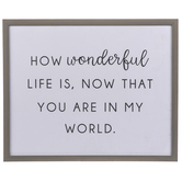 How Wonderful Life Is Wood Wall Decor