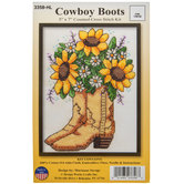 Cowboy Boots Counted Cross Stitch Kit