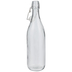 Round Glass Milk Bottle - 33 Ounce