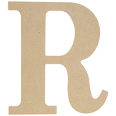 "Wood Letter R - 9 1/2"""