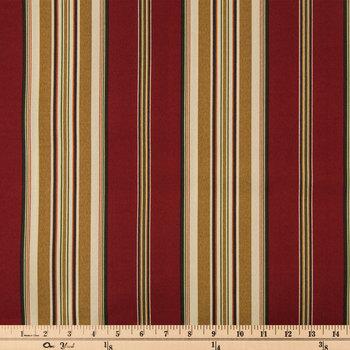 Pompeii Capulet Striped Outdoor Fabric