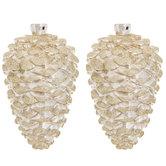 Champagne Glitter Pinecone Ornaments