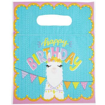 Llama Zipper Bags With Handles