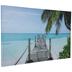 Tropical Pier Canvas Wall Decor