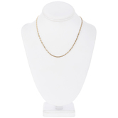"""Flat Link Chain Necklace - 18"""""""