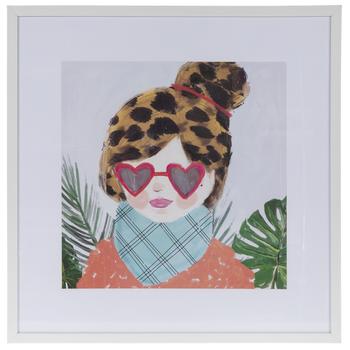Fashion Girl Framed Wall Decor