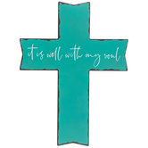 It Is Well With My Soul Wood Wall Cross