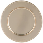 Dotted Edge Metal Charger Plate