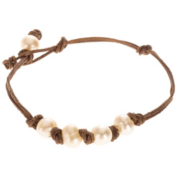 Cord With Cultured Pearls Bracelet