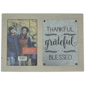 "Thankful Grateful Blessed Wood Frame - 4"" x 6"""
