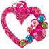 Pink Rhinestone Heart Charm