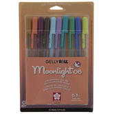 Assorted Moonlight Gel Ink Pens - 10 Piece Set