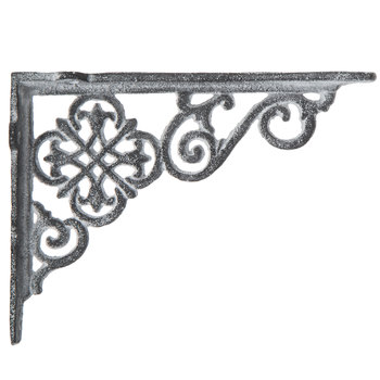Gray Scroll Metal Bracket