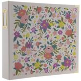 """Feminine Floral 3-Ring Scrapbook Album - 12"""" x 12"""""""