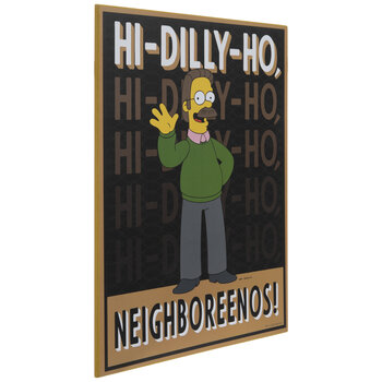 Ned Flanders Quote Wood Wall Decor