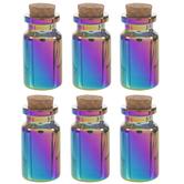 Iridescent Glass Bottle Embellishments - Medium