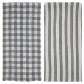 Sage & White Patterned Kitchen Towels