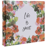 "Life Is Sweet Floral Post Bound Scrapbook Album - 6"" x 6"""