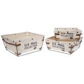 U.S. Mail Canvas Basket Set