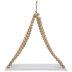 White & Natural Beaded Wood Hanging Shelf