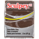 Suede Brown Sculpey III Clay - 2 Ounce