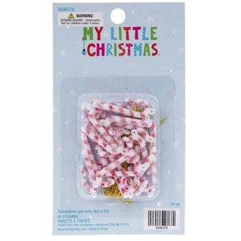 Candy Cane Mini Ornaments - Small