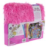 Hot Pink Faux Fur Doodle Lap Desk Craft Kit