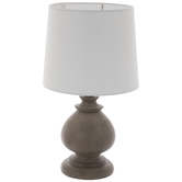 Brushed Gray Finial Lamp