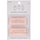 Blush & Gold Iron-On Labels