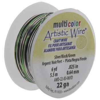 Black & Green Artistic Wire - 22 Gauge