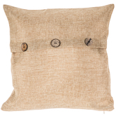 Beige Pillow Cover With Buttons