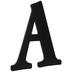 Black Wood Letter - A