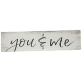 You & Me Wood Magnet