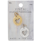 10K Gold Plated Heart Cut-Out Charms
