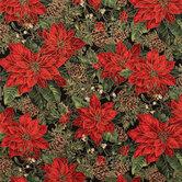 Poinsettia Cotton Fabric