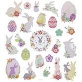Glitter Easter Bunny Stickers