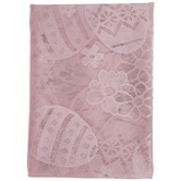 """Eggs & Flowers Lace Tablecloth - 60"""" x 84"""""""