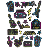 Holographic Neon Music Stickers