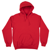 Red Adult Hooded Sweatshirt - Large