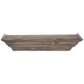 Brown Layered Wood Wall Shelf