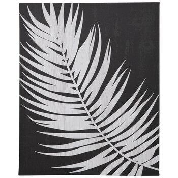 Black & White Palm Leaf Canvas Wall Decor