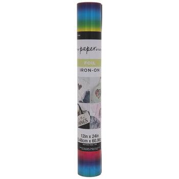 Multi-Color Stripe Foil Iron-On Transfer