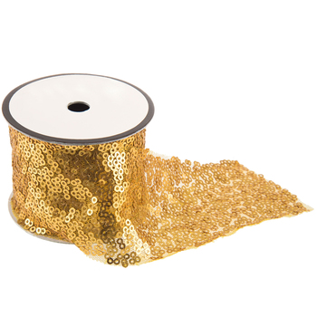 """Gold Sequin Trim - 2"""""""