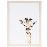 Watercolor Giraffe Wood Wall Decor