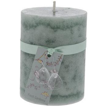 "Fresh Gardenia Pillar Candle - 3"" x 4"""