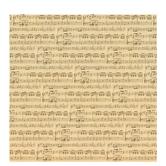 "Cream Sheet Music Scrapbook Paper - 12"" x 12"""